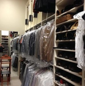 Pristine, dry cleaned suits deserve an organized space to hang