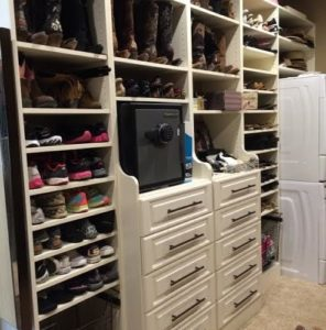 Shoes, drawers, and a washer & dryer, oh my!